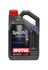 MOTUL SPECIFIC 505.01 / 502.00 / 505.00 SAE 5W40 (5л), 842451