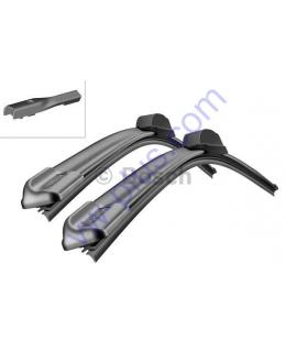 Щётки стеклоочистителя переднего, бескаркасные под кнопку 600/400мм, к-т (VW Polo 6R..) 3397007555